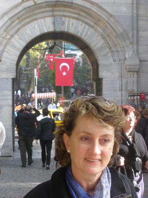 The author in Istanbul