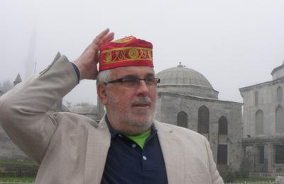 Author's husband and his fez - Istanbul